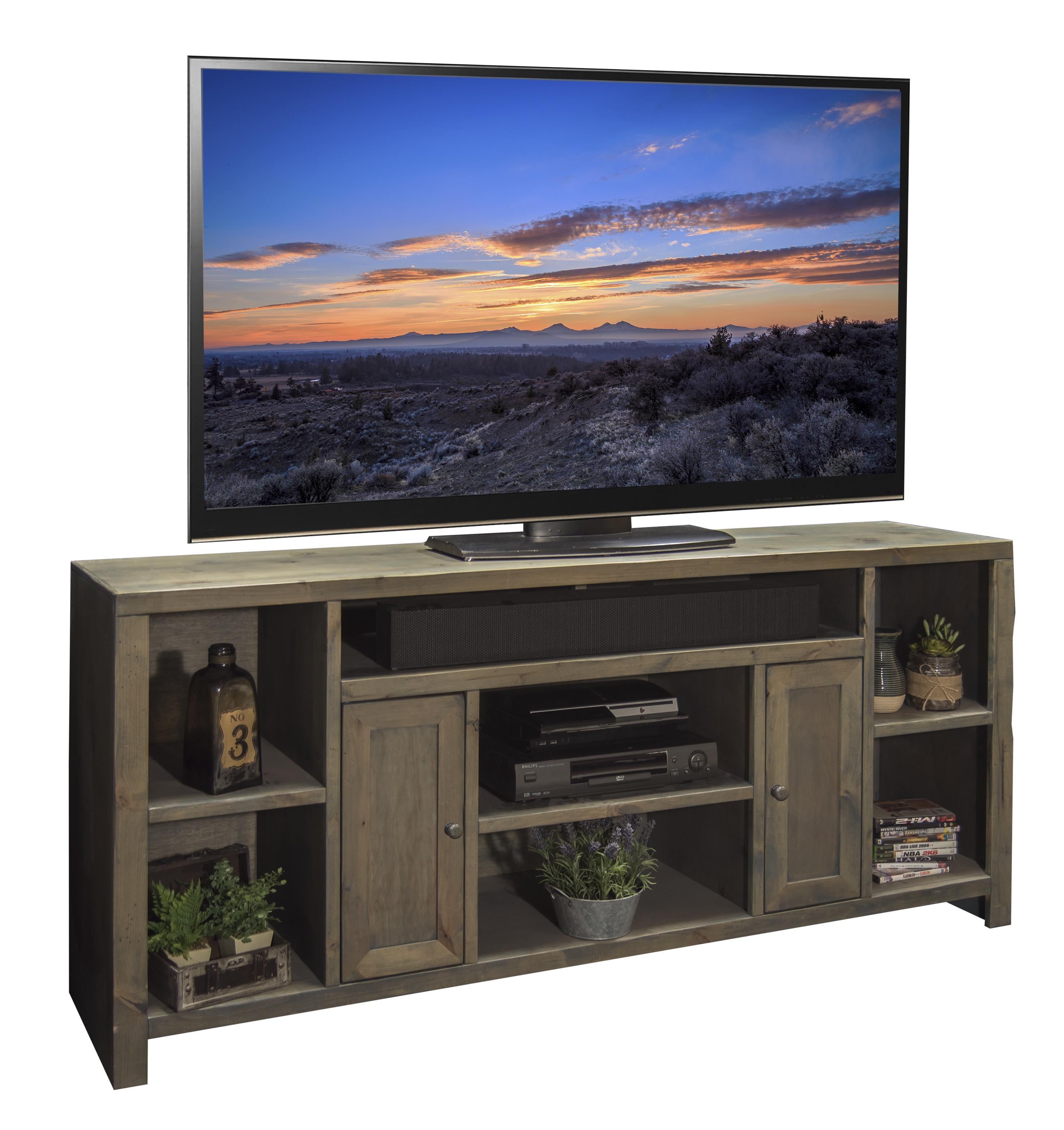 "Legends Furniture Joshua Creek 74"" TV Console - Item Number: JC1275-BNW"