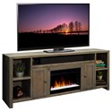 "Legends Furniture Joshua Creek 84"" Super Fireplace - Item Number: JC5284-BNW"
