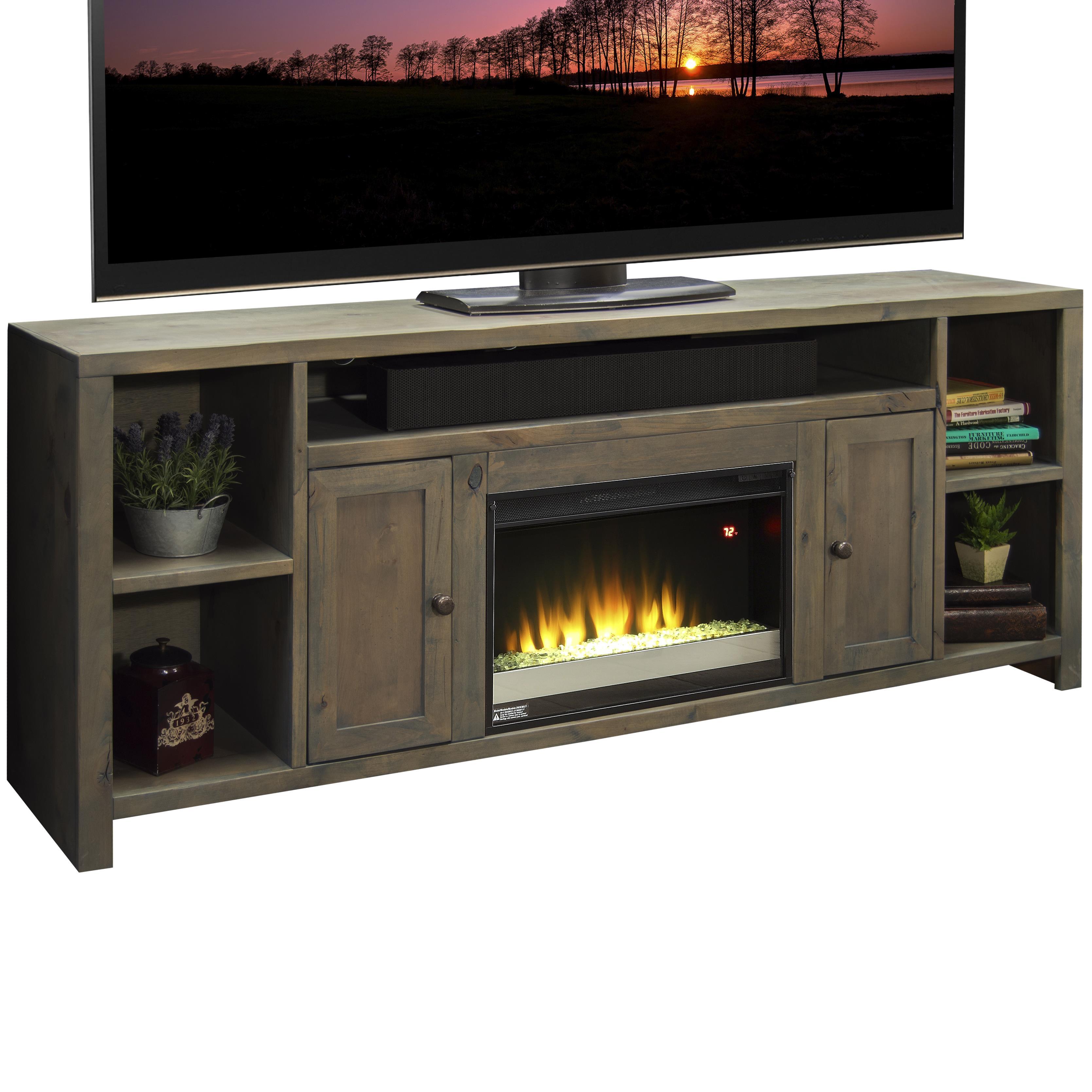 "Legends Furniture Joshua Creek 85"" Super Fireplace - Item Number: JC5284-KIT"