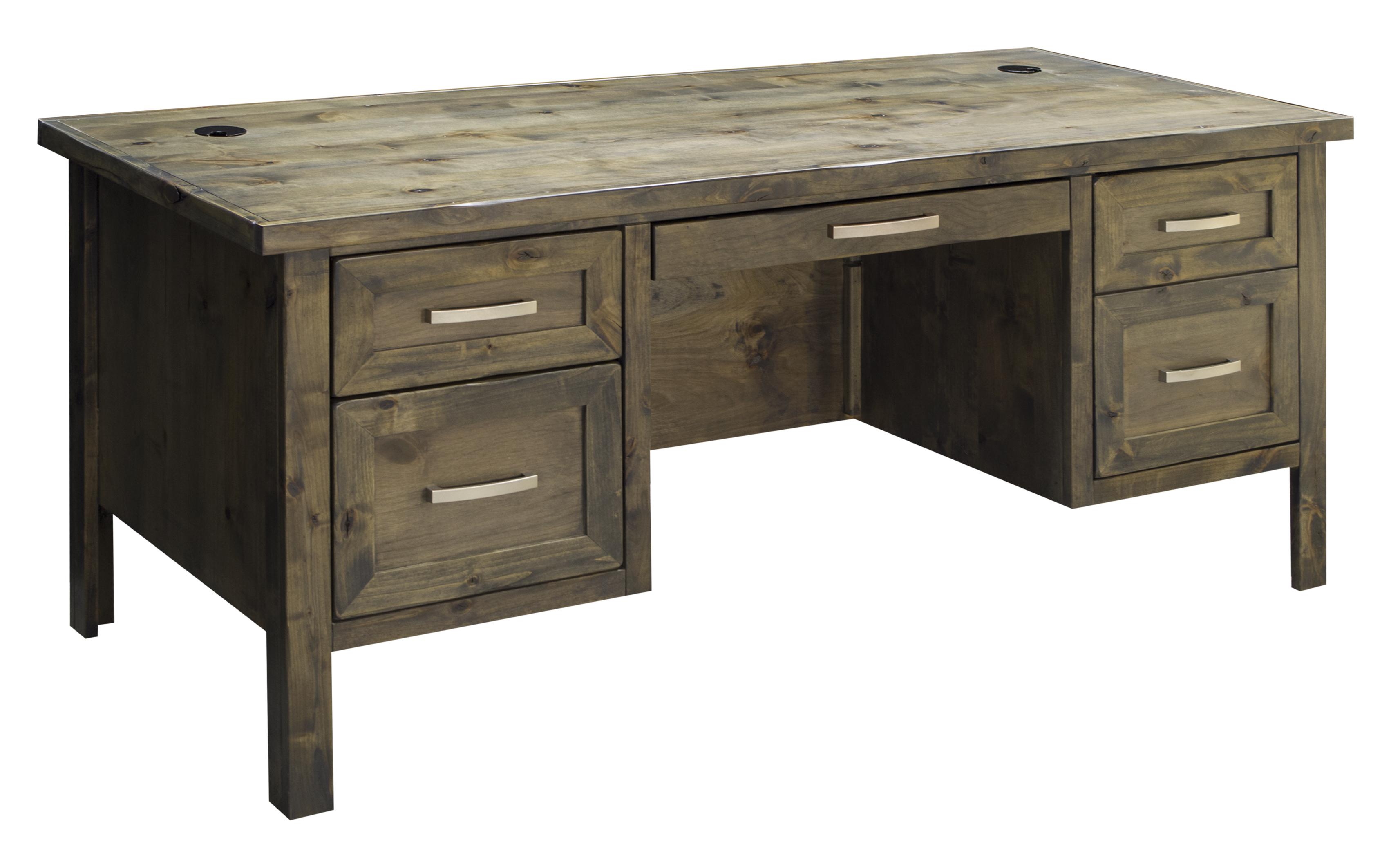 Legends Furniture Joshua Creek Joshua Creek Executive Desk - Item Number: JC6270-BNW