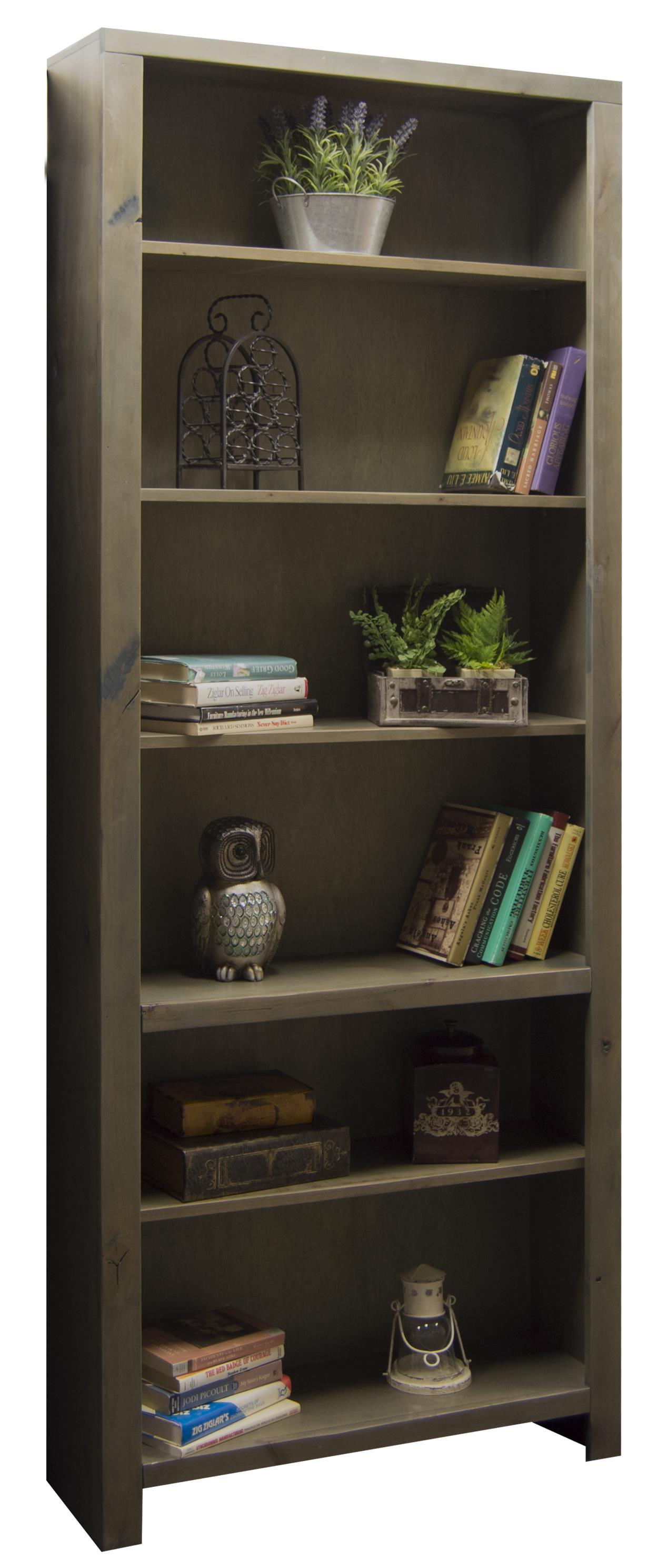 "Legends Furniture Joshua Creek 84"" Bookcase - Item Number: JC6684-BNW"