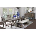 Legends Furniture Laurel Grove Formal Dining Room Group - Item Number: ZLGV Dining Room Group 1