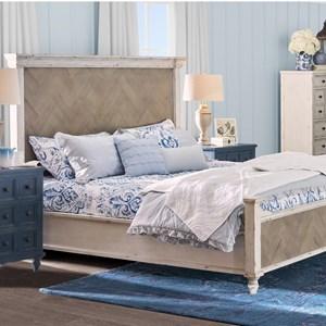 Queen Parquet Panel Bed