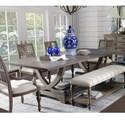 Legends Furniture Laurel Grove Trestle Table - Item Number: ZLGV-8000T+B
