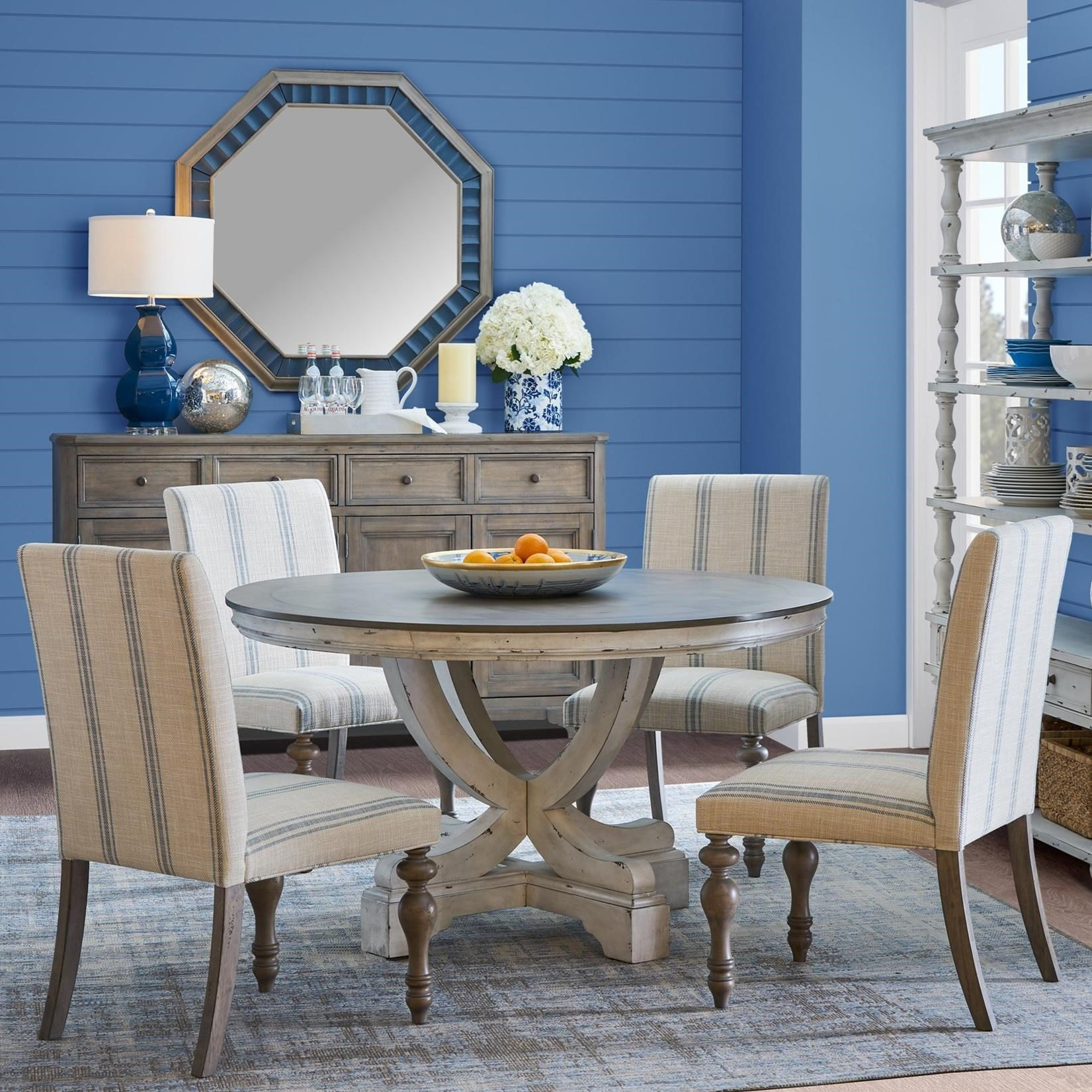 Liberty Furniture Springfield 7 Piece Pedestal Table Set: Pedestal Table And Chair Set