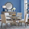 Legends Furniture Laurel Grove 5 Piece Pedestal Table and Chair Set - Item Number: ZLGV-8040T+8040B+4x8201