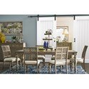 Legends Furniture Laurel Grove 7 Piece Table and Chair Set - Item Number: ZLGV-8060+6x8401
