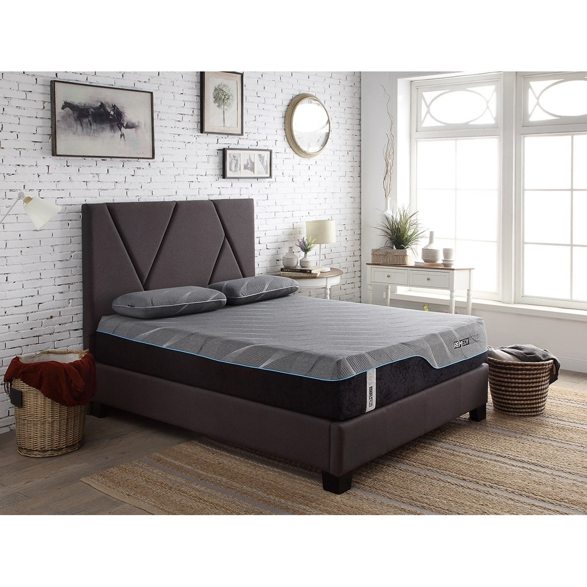 . Modern Beds Contemporary Queen Upholstered Bed by Legends Furniture at Dunk    Bright Furniture