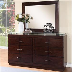 Vendor 1356 Novella Dresser and Mirror Set