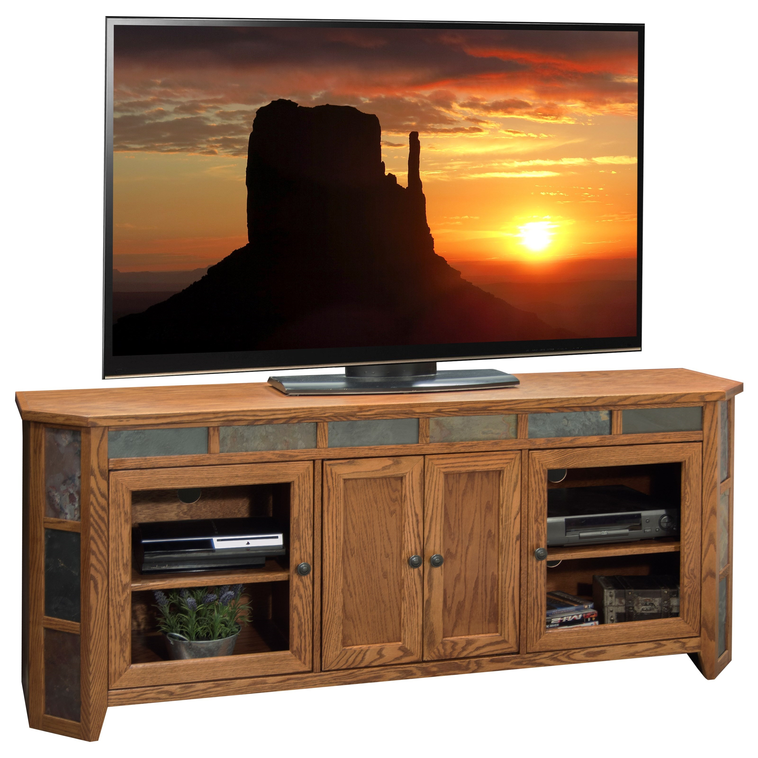 Vendor 1356 Oak Creek 72 Inch TV Console - Item Number: OC1256.GDO