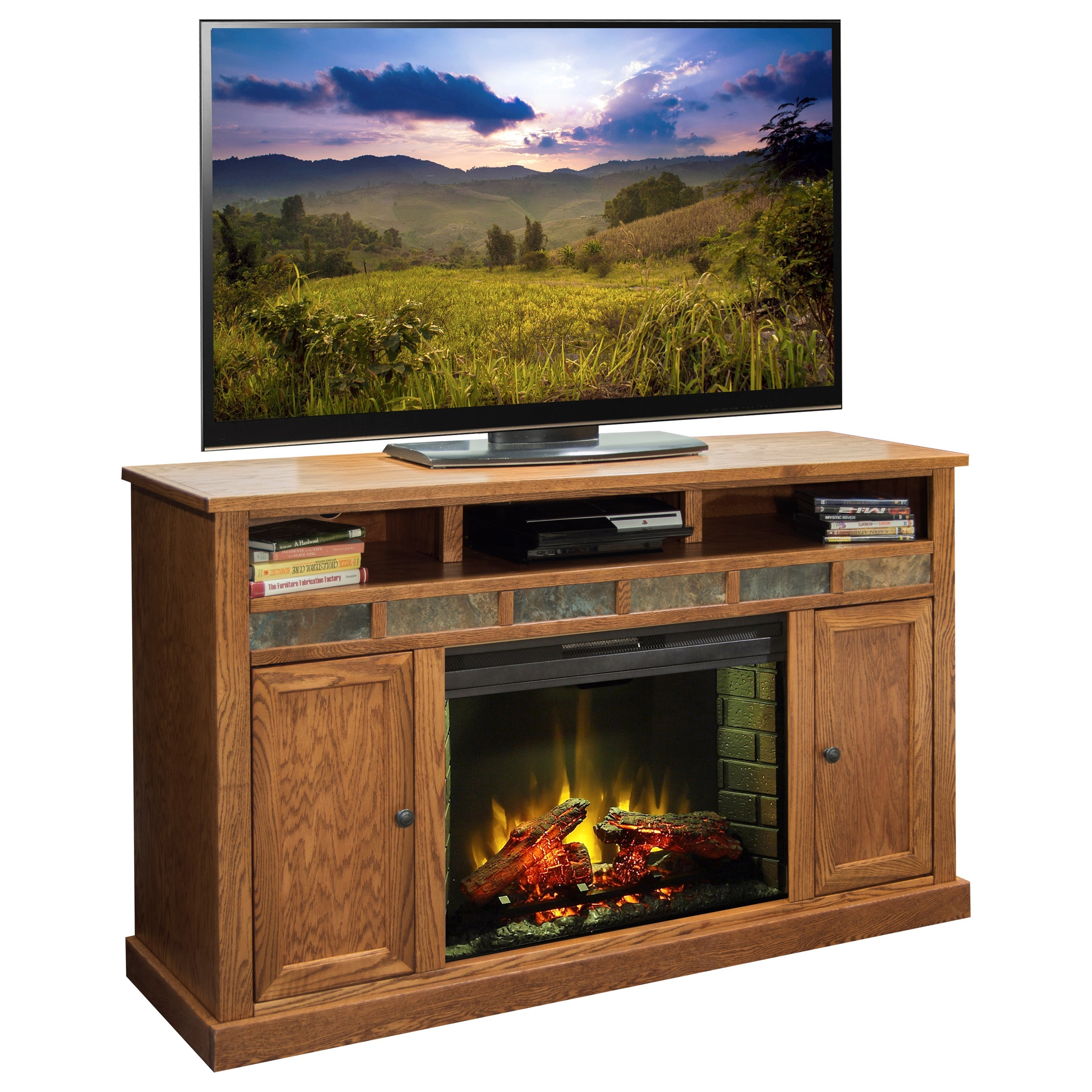"Legends Furniture Oak Creek 62"" Fireplace Media Center - Item Number: OC5101.GDO"