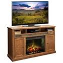 "Legends Furniture Oak Creek 63"" Fireplace Console - Item Number: OC5101-GDO"