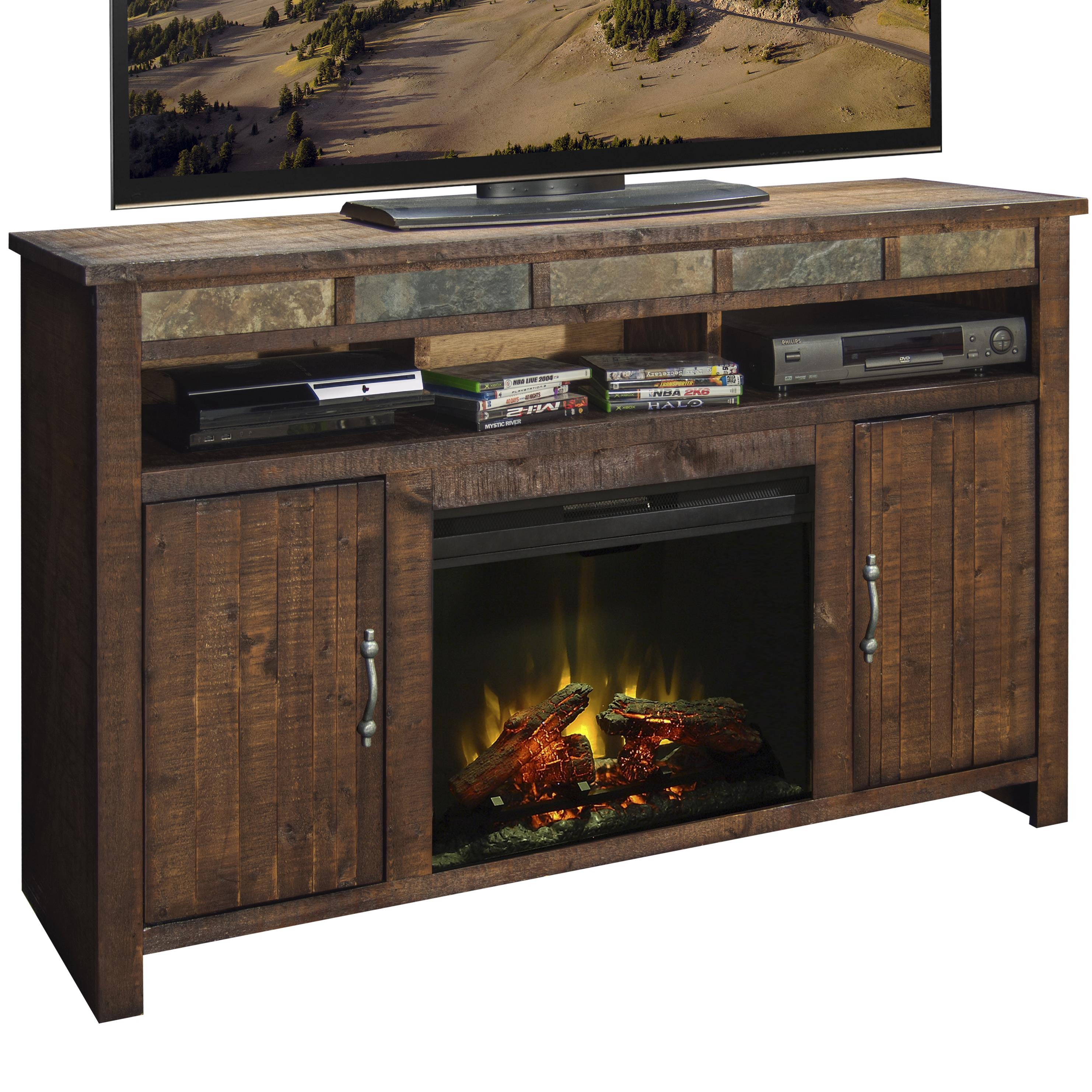 "Legends Furniture Old West 60"" Fireplace Console - Item Number: OW5301-KIT"