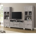 Legends Furniture Pacific Heights Entertainment Wall Unit - Item Number: ZPCH-1000G