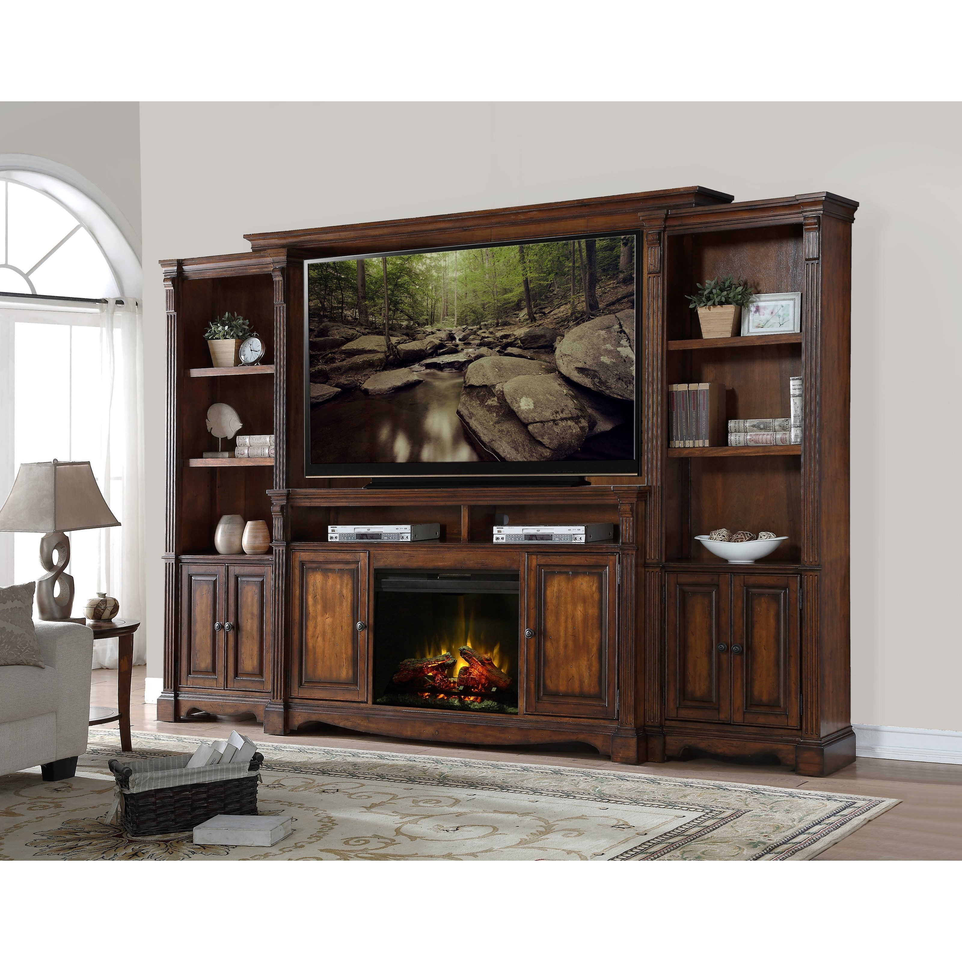 club unique tufted frame elegant center electric electricfireplace of napoleon gray leatherette fireplace media upholstery
