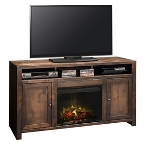 "Legends Furniture Queen Creek Collection 62"" Fireplace Console"