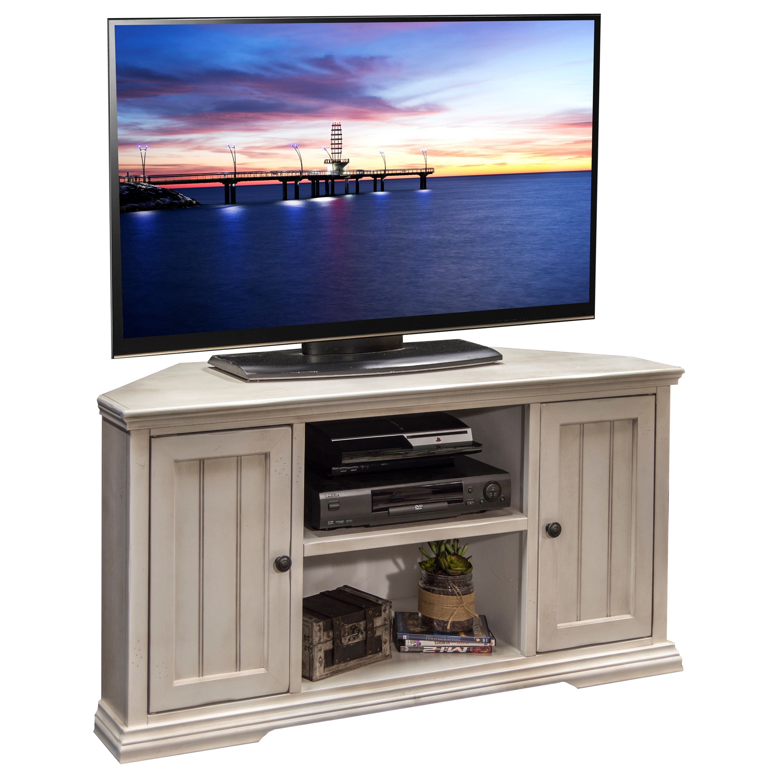 "Legends Furniture Riverton 50"" Corner TV Console - Item Number: RT1202ATW"