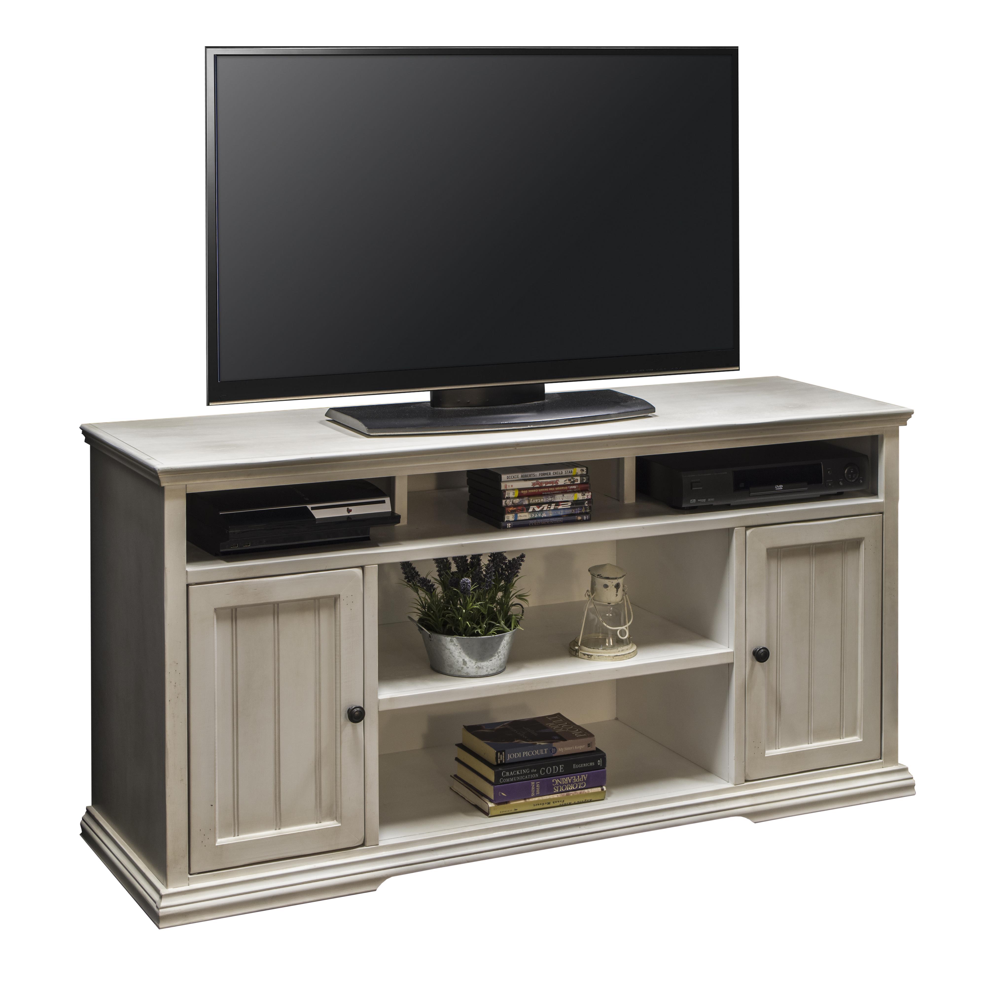 "Legends Furniture Riverton 62"" Tall TV Cart - Item Number: RT1328-ATW"