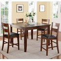 Legends Furniture Rockport 5 Piece Counter Height Table & Chair Set - Item Number: ZRPT-8000+4x01