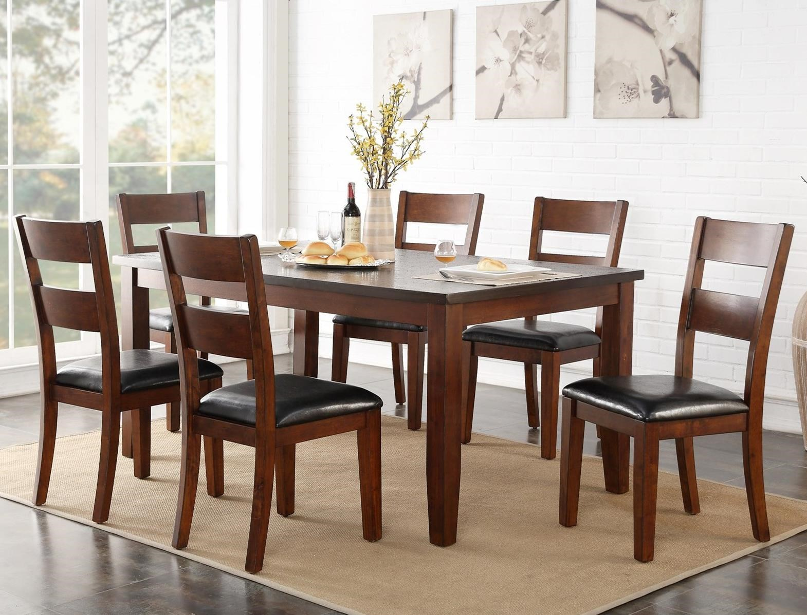 Legends Furniture Rockport 7 Piece Table & Chair Set - Item Number: ZRPT-8060+6x61