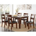 Vendor 1356 Rockport 7 Piece Table & Chair Set - Item Number: ZRPT-8060+6x61