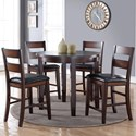 Vendor 1356 Rockport 5 Piece Pub Table Set - Item Number: ZRPT-8090+4x01