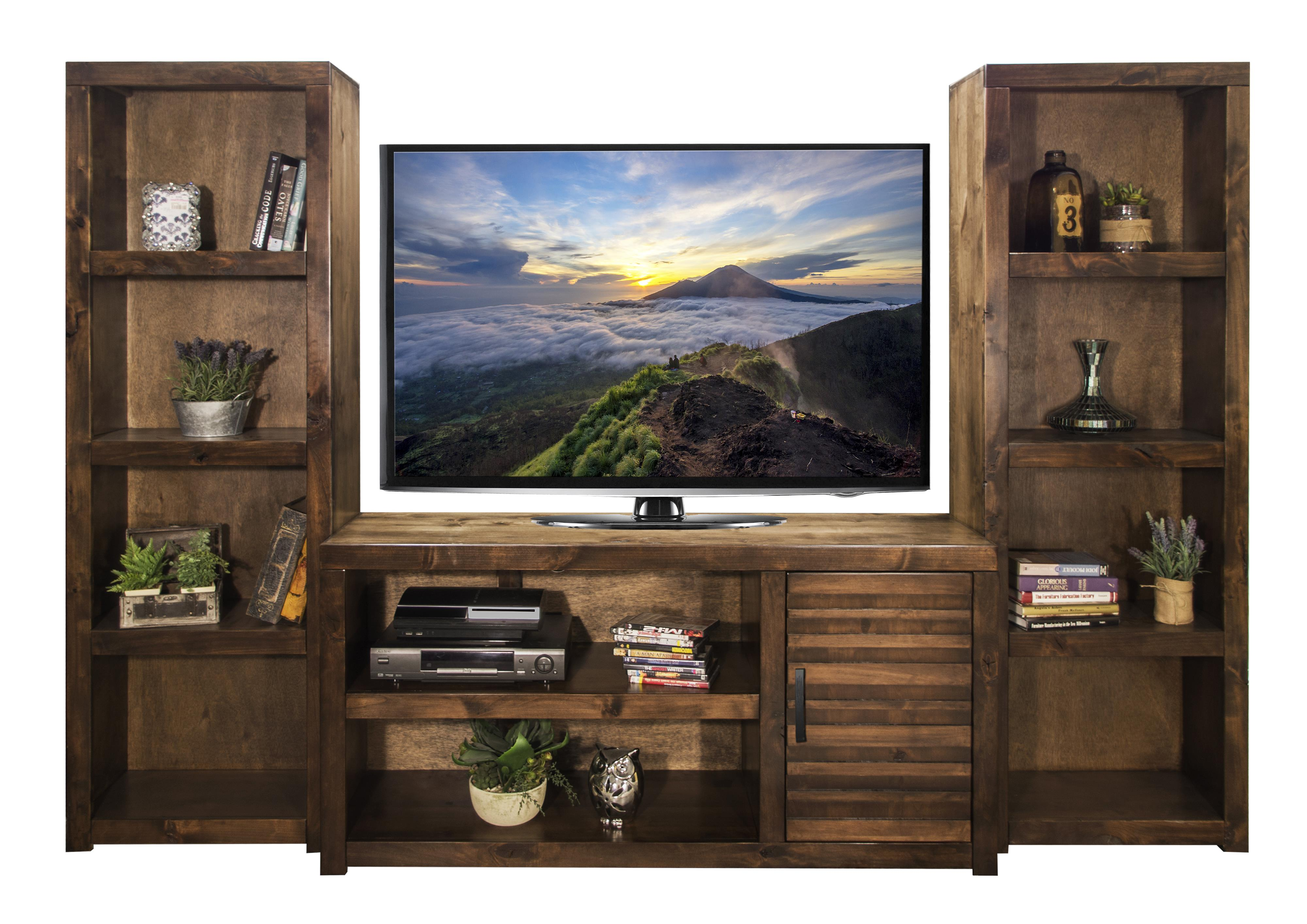 Legends Furniture Sausalito Collection Entertainment Wall - Item Number: SL1213+2xSL3203-WKY