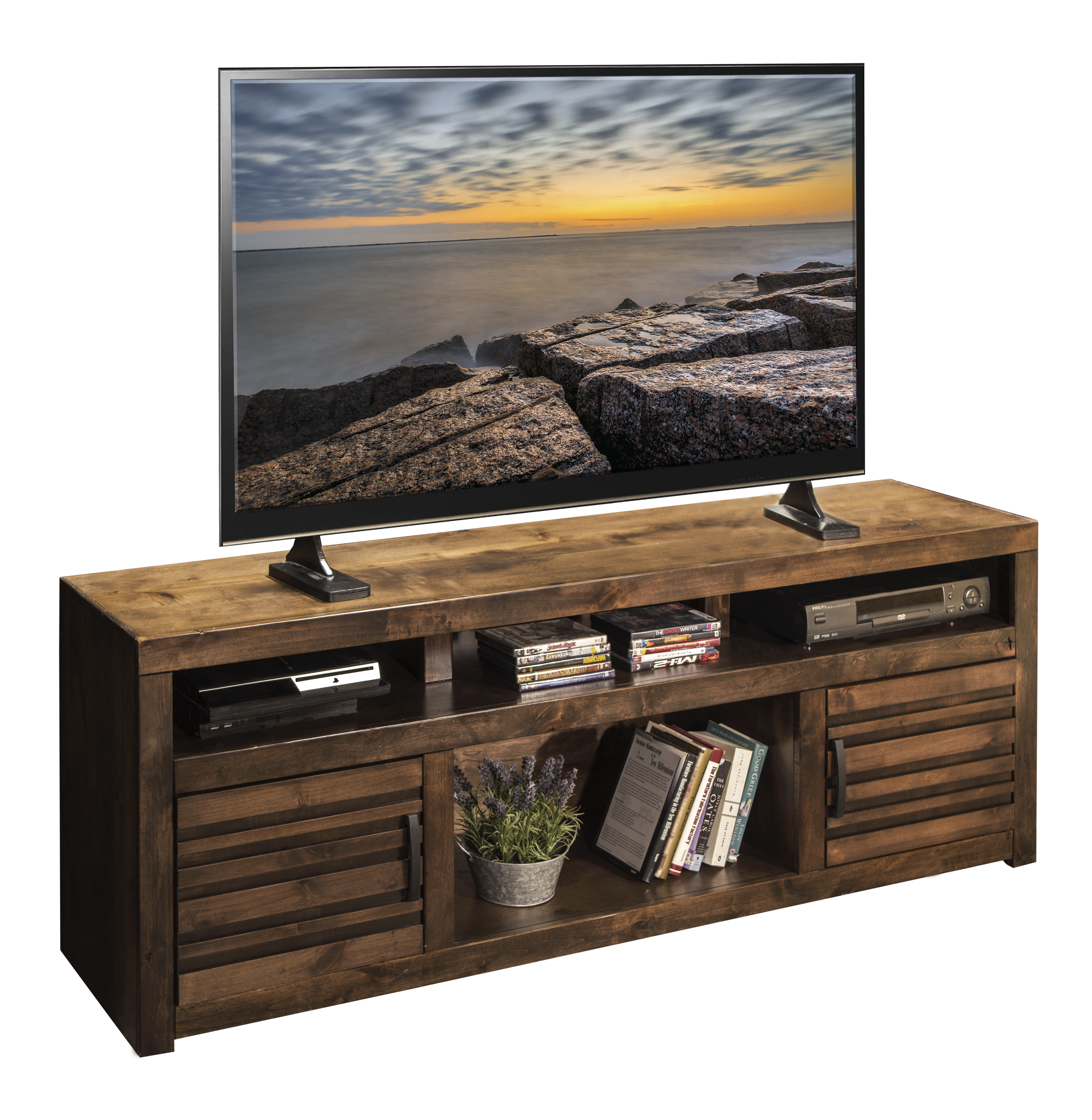 "Legends Furniture Sausalito Collection 73"" TV Console - Item Number: SL1214-WKY"