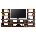 Legends Furniture Sausalito Collection Modern Entertainment Wall Unit - Item Number: SL1230-WKY+2x3976-WKY