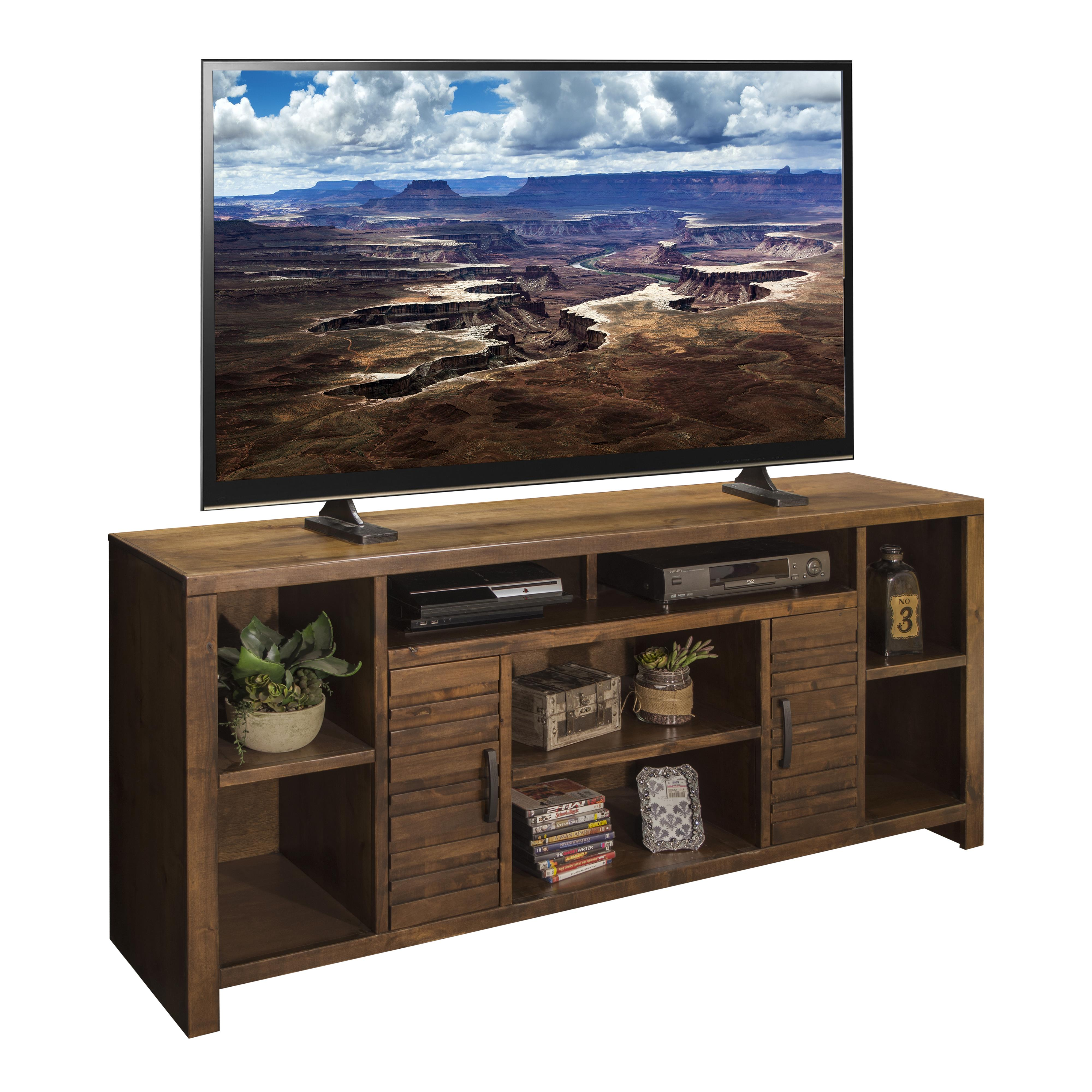 "Legends Furniture Sausalito Collection 74"" TV Console - Item Number: SL1275-WKY"
