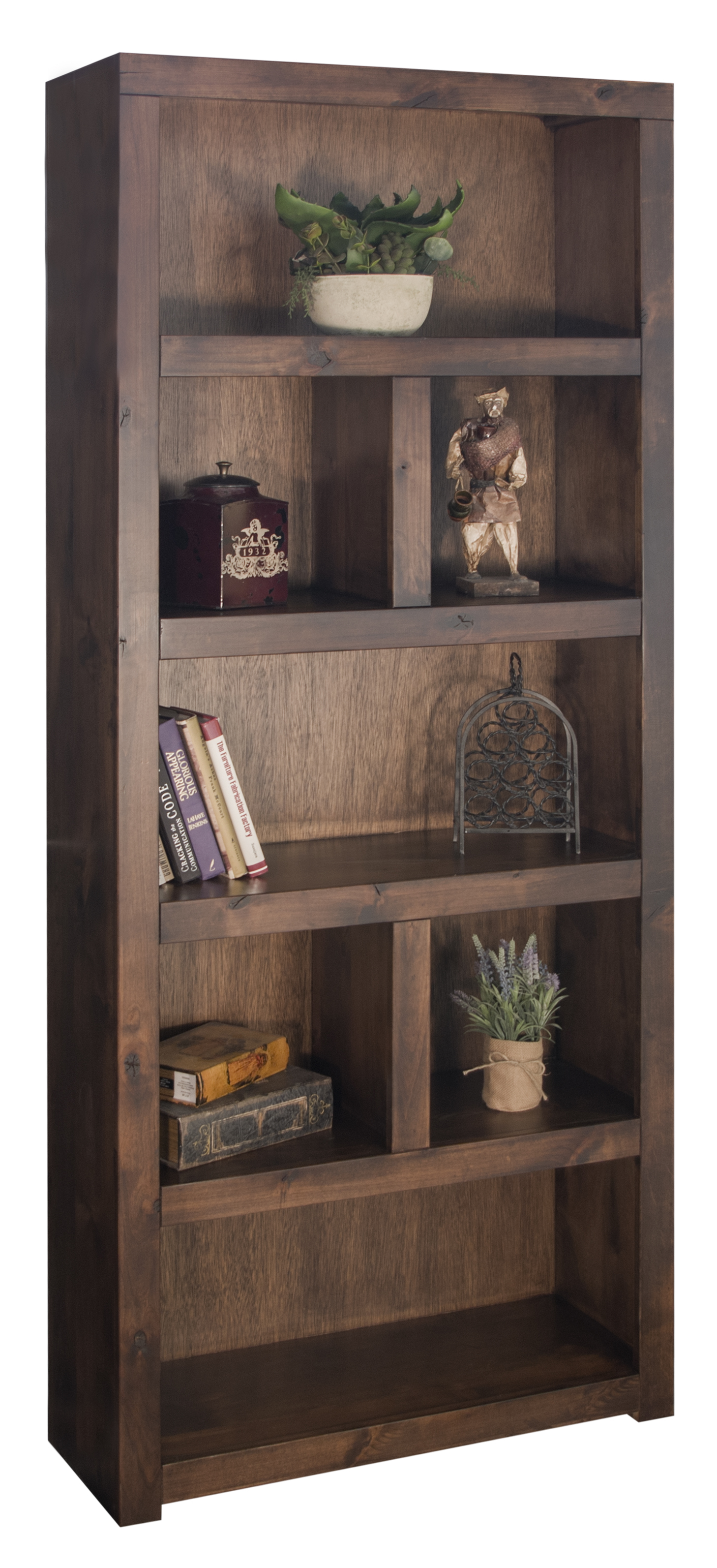 "Vendor 1356 Sausalito Collection 80"" Grand Bookcase - Item Number: SL6930-WKY"