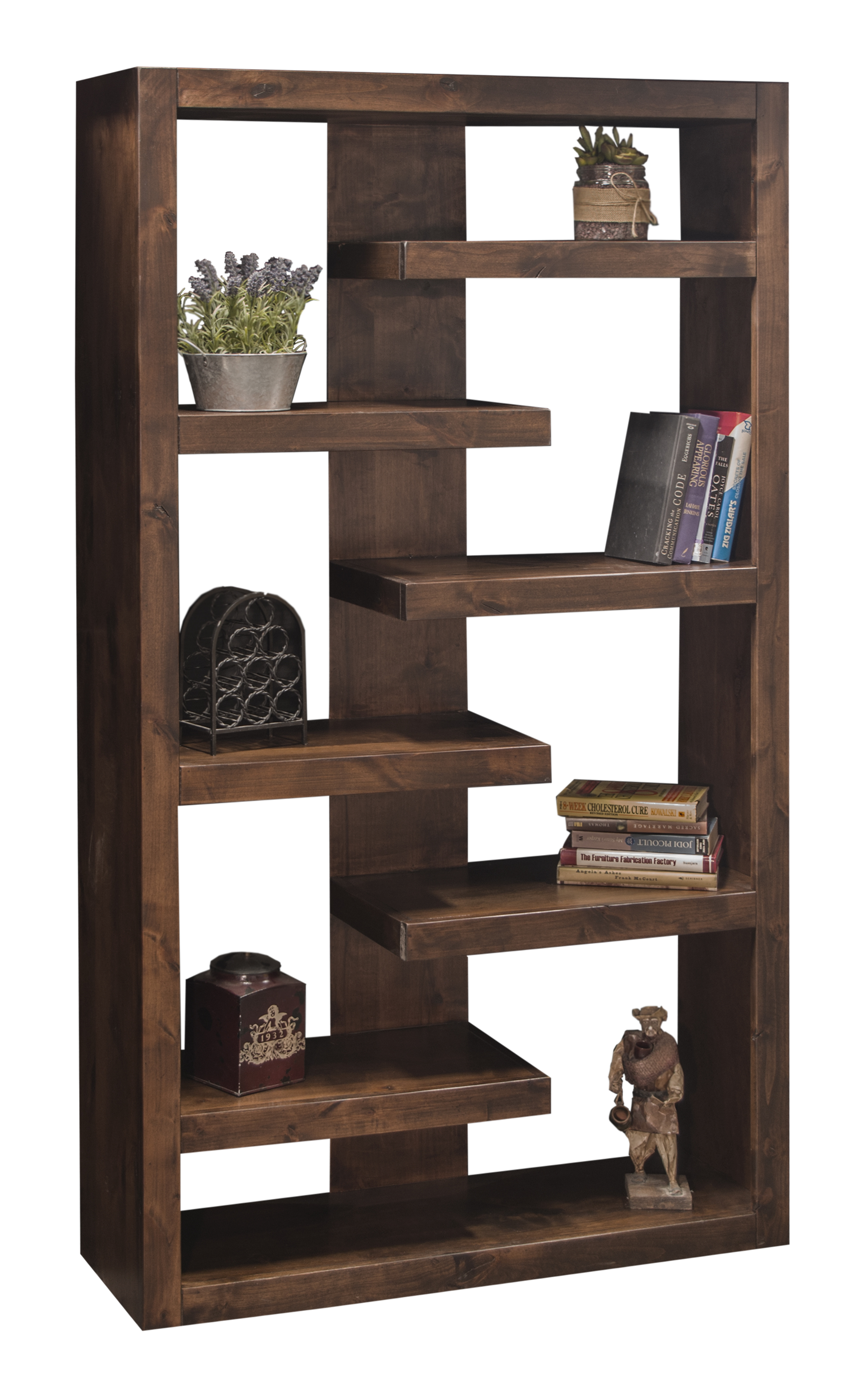 """Legends Furniture Sausalito Collection 72"""" Bookcase - Item Number: SL6972-WKY"""