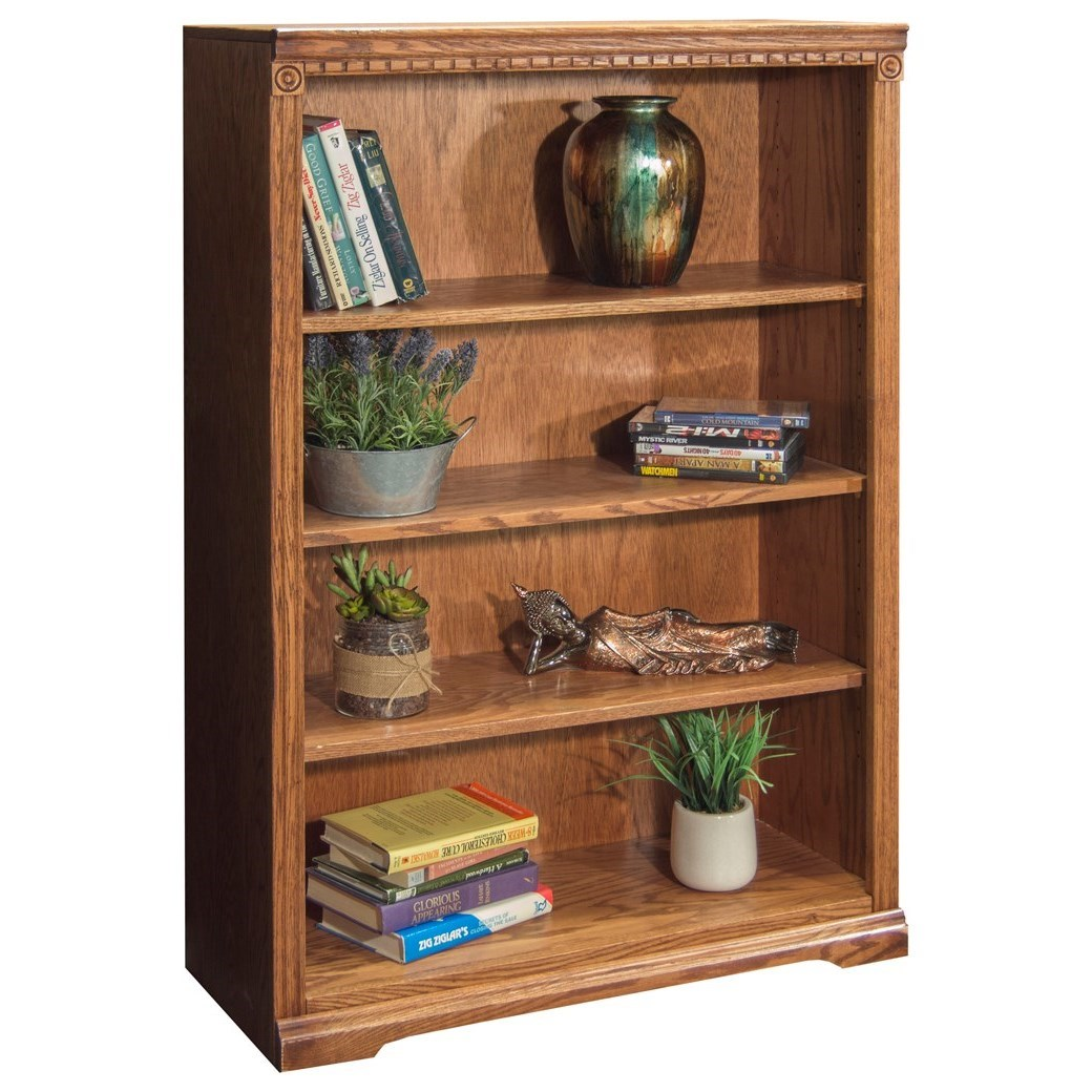 Legends Furniture Scottsdale Sd6848 Rst 48 Bookcase With Three Shelves Hudson 39 S Furniture