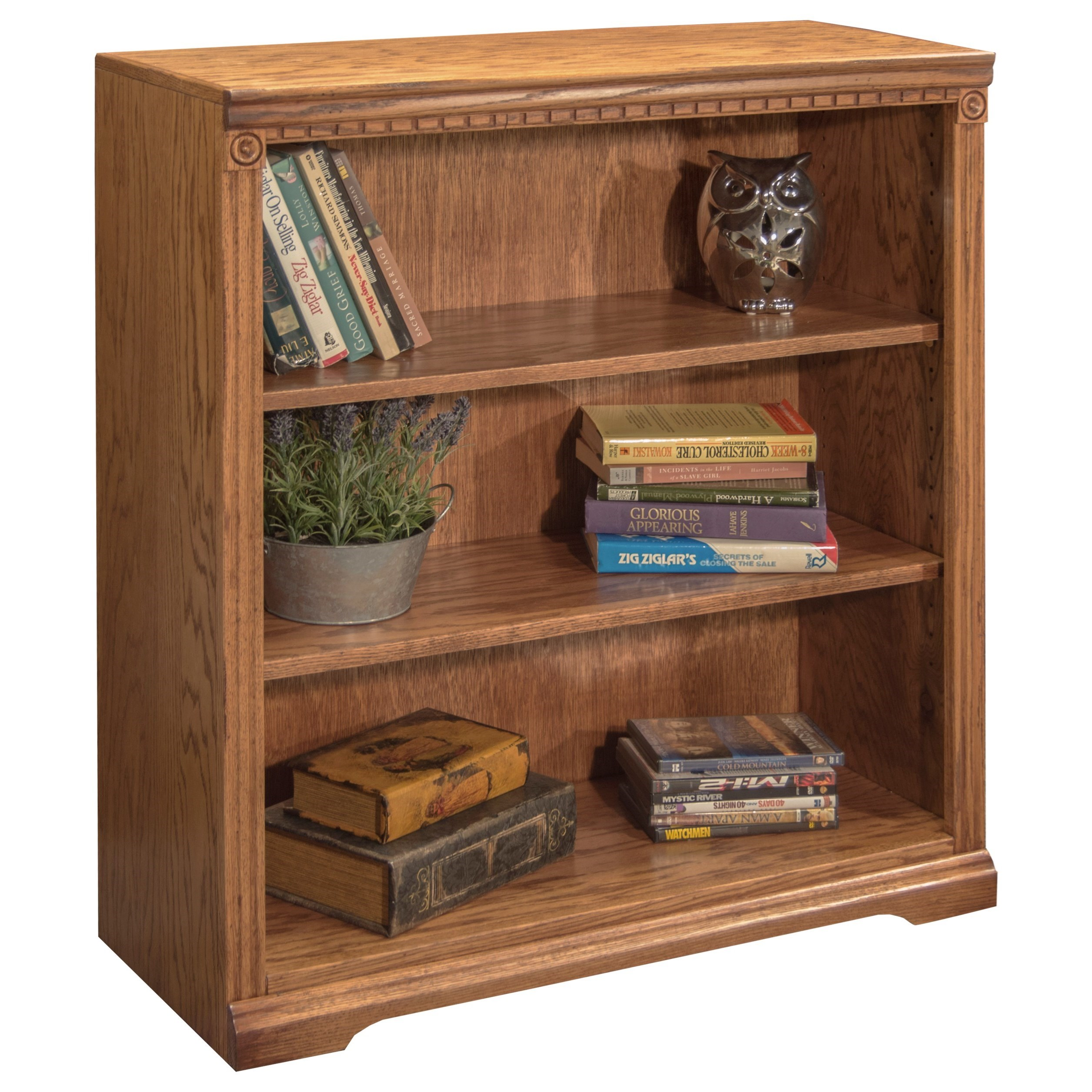 Bookcase with 2 adj. Shelves