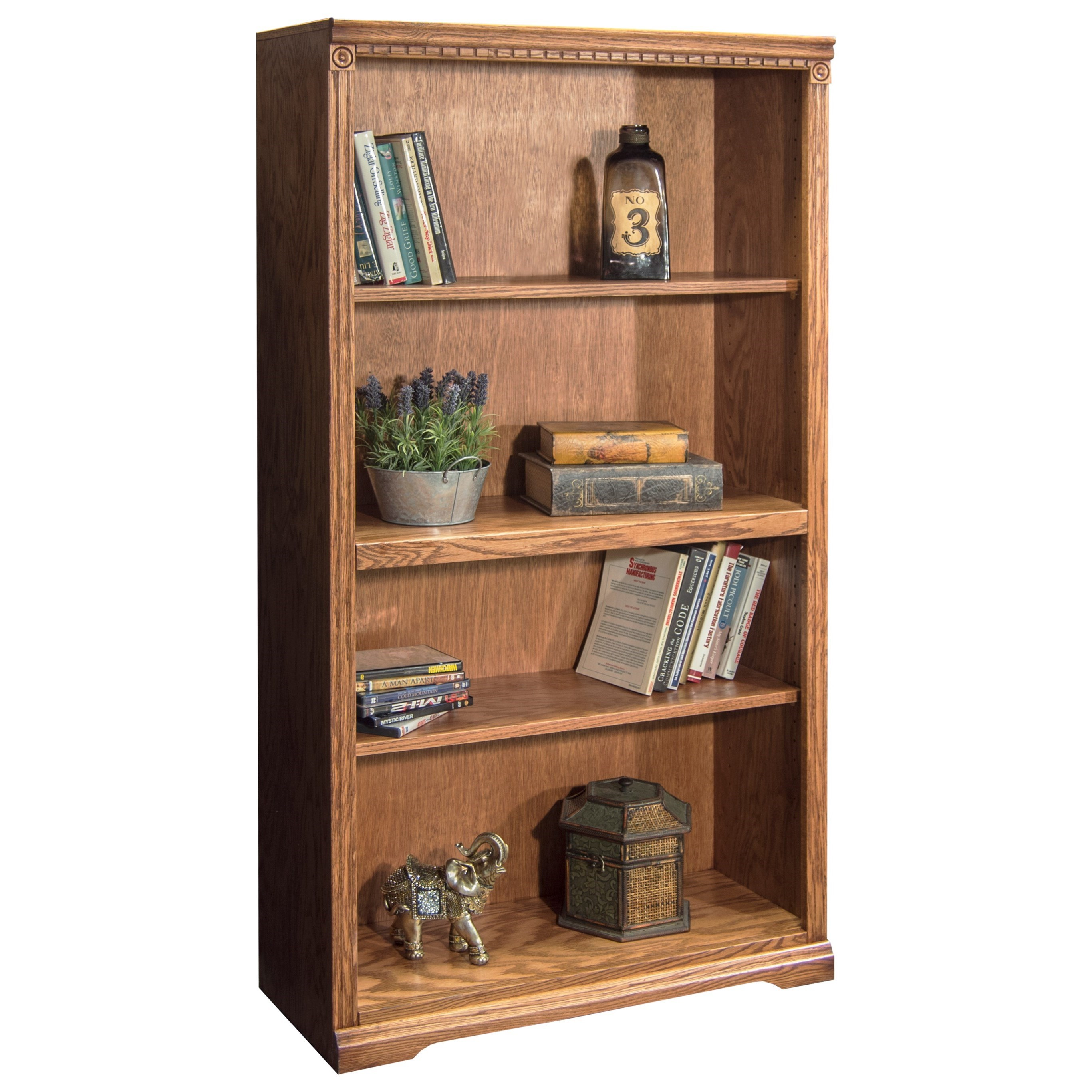 Vendor 1356 Scottsdale Bookcase with 1 Fixed & 2 adj. Shelves - Item Number: SD6860