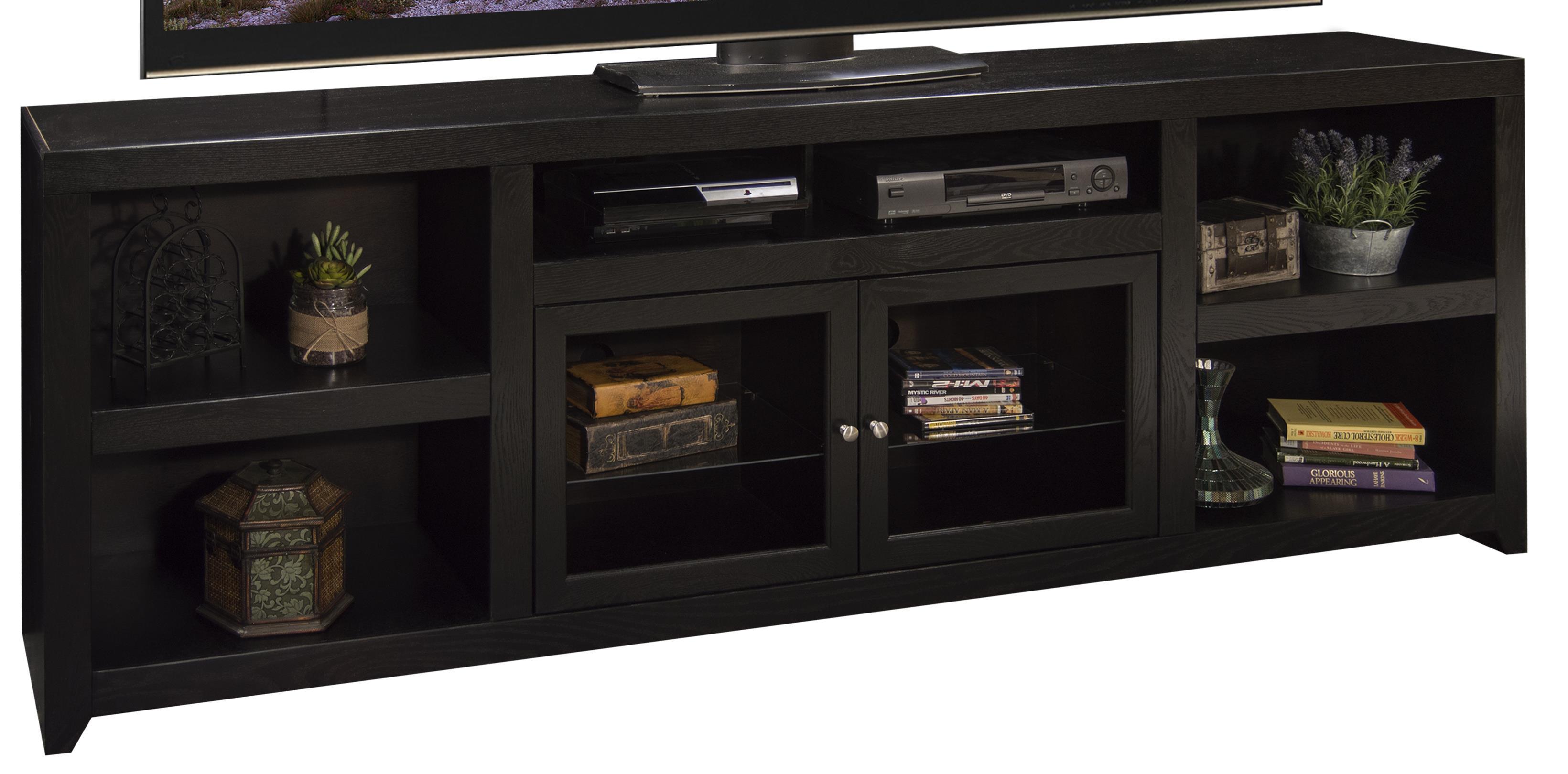 """Legends Furniture Skyline 95"""" TV Console - Item Number: SK1595-MOC"""