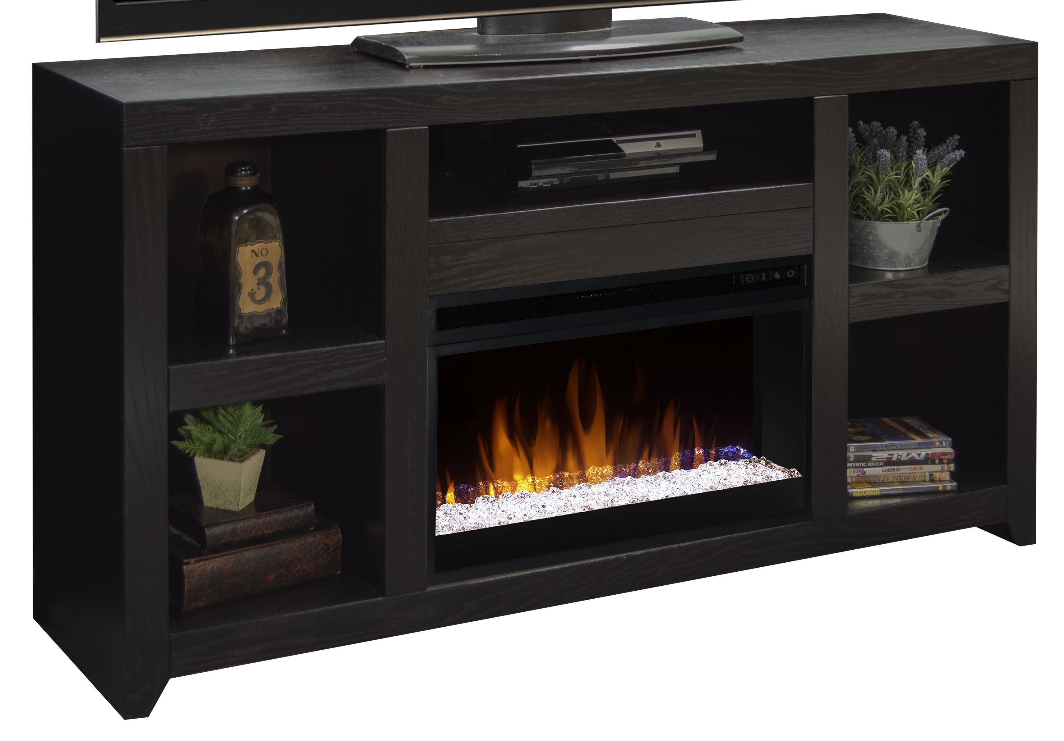 """Legends Furniture Skyline 62"""" Fireplace Console - Item Number: SK5201-MOC"""