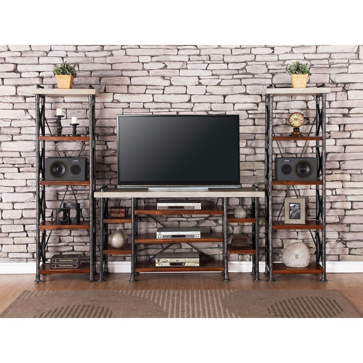 Legends Furniture Steampunk Collection Industrial Entertainment Center - Item Number: ZSPK-1765+2x3000