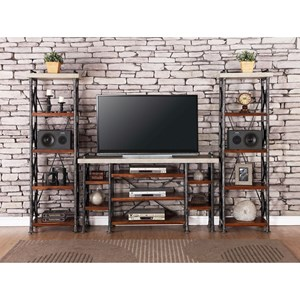 Legends Furniture Steampunk Collection Industrial Entertainment Center
