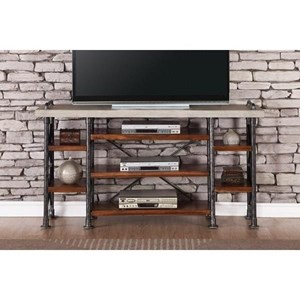 "Legends Furniture Steampunk Collection Steampunk 65"" TV Console"
