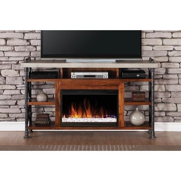 "Legends Furniture Steampunk Collection Steampunk 62"" Fireplace Console - Item Number: ZSPK-1965"