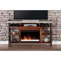 "Vendor 1356 Steampunk Collection Steampunk 62"" Fireplace Console - Item Number: ZSPK-1965"
