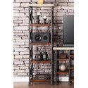 Legends Furniture Steampunk Collection Steampunk Universal Pier with Four Shelves