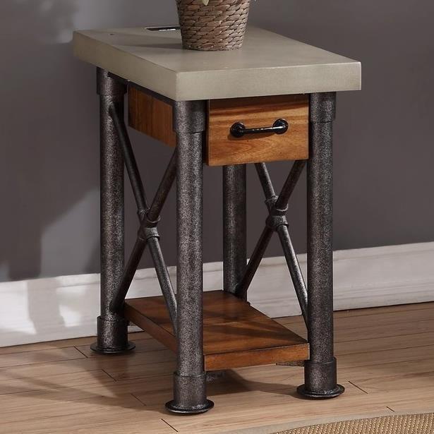 Legends Furniture Steampunk Collection Steampunk Side Table - Item Number: ZSPK-4400