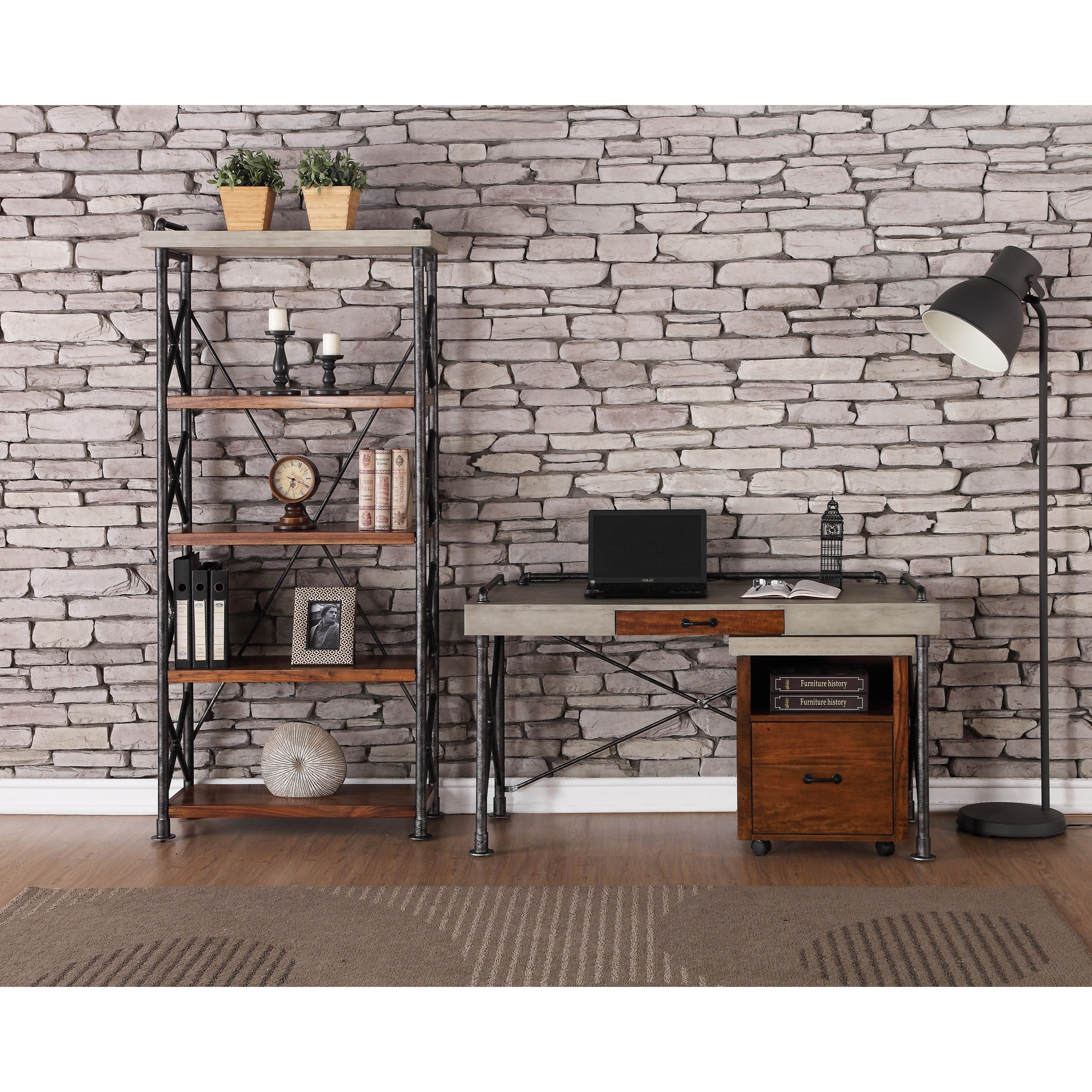 Legends Furniture Steampunk Collection Industrial Home Office Group - Item  Number: ZSPK-6000