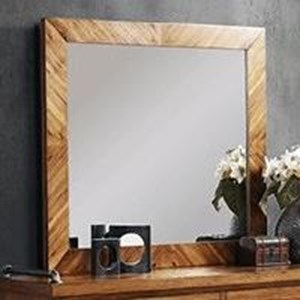 Legends Furniture Steampunk Collection Mirror with Wood Frame