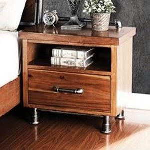Legends Furniture Steampunk Collection One Drawer Nightstand