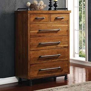 Legends Furniture Steampunk Collection 6 Drawer Chest