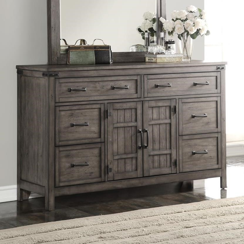 Legends Furniture Storehouse Collection Storehouse 6 Drawer Dresser - Item Number: ZSTR-7013