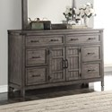 Legends Furniture Storehouse Collection Storehouse 6 Drawer Dresser - Item Number: ZSTR-7013